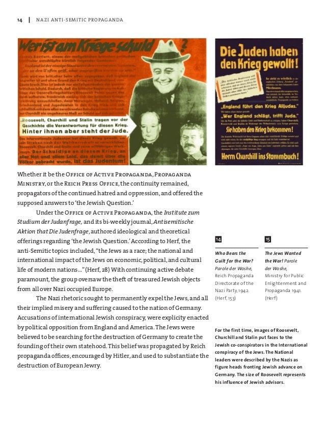 nazi anti semitic propaganda Advice for nazi speakers on anti-semitic propaganda: what to say in fall 1935 ten anti-semitic arguments: advice to a nazi propaganda magazine for foreigners.
