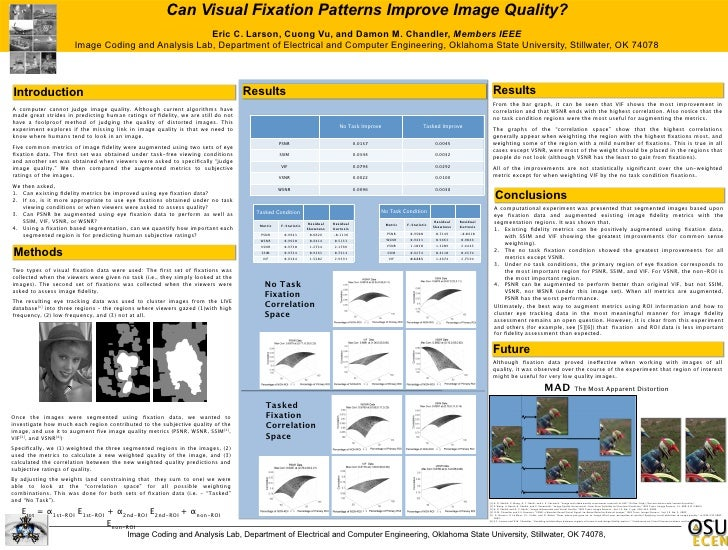 Can Visual Fixation Patterns Improve Image Quality?                                                    Eric C. Larson, Cuo...