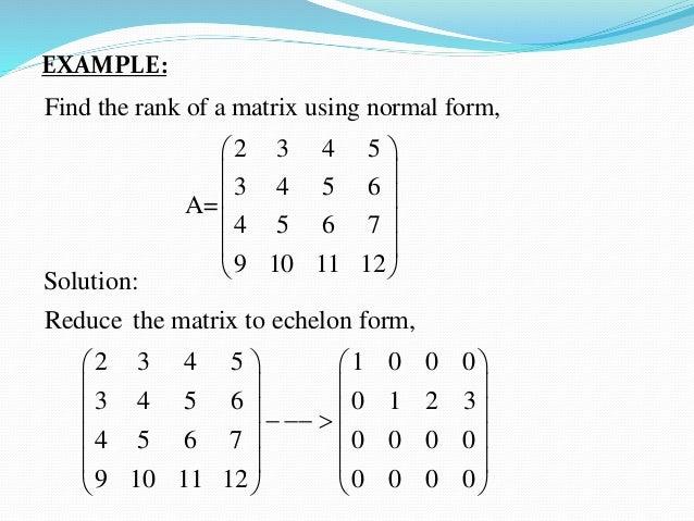 Matrix Rank