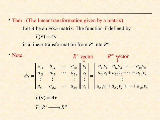 linear transformation vector spaces hash function hermite