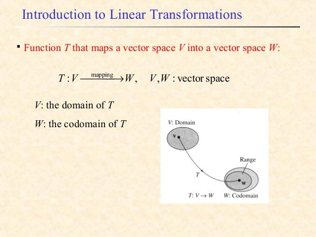 Vector space functions