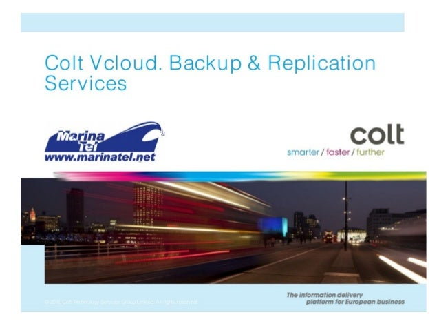 vCloud replication powered by Colt