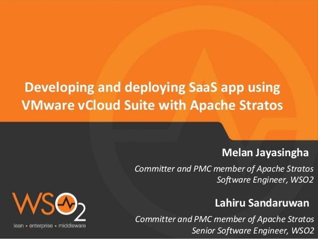Developing and Deploying SaaS App Using VMware vCloud Suite