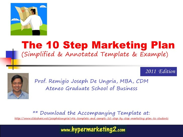 Vcoach 10 step marketing plan 2011 edition - Simplified, Annotated and Illustrated by Professor Remigio Joseph (Bong) De Ungria of the Ateneo Graduate School of Business
