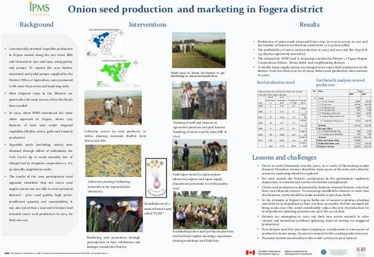 OnionseedproductionandmarketinginFogera district              Background                                         ...