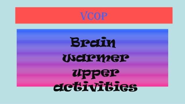 VCOP  Brain warmer upper activities