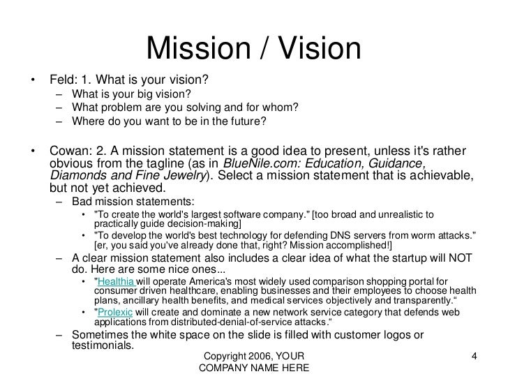 requirements of a good mission statement
