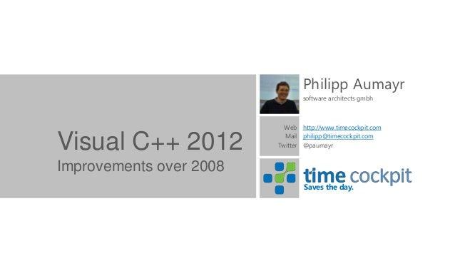 Philipp Aumayr                                software architects gmbh                           Web http://www.timecockpi...