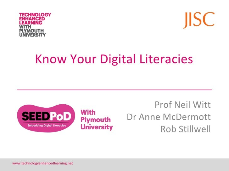 Know you Digital Literacies