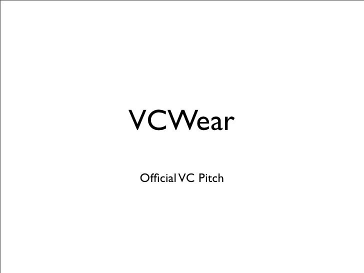 VCWear Official VC Pitch