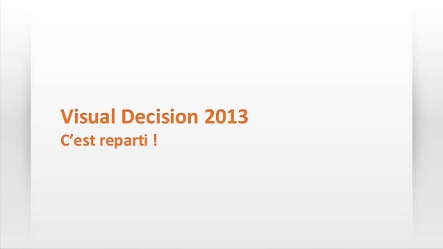 Visual Decision 2013C'est reparti !