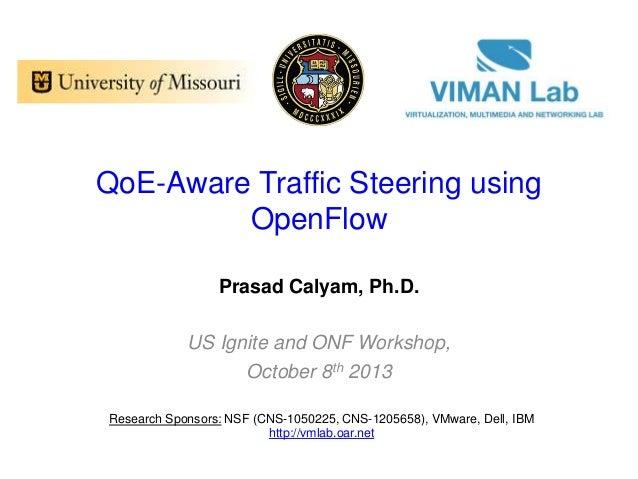 QoE-Aware Traffic Steering using OpenFlow