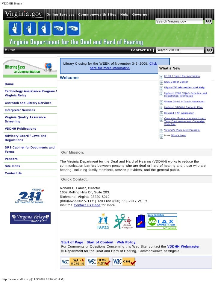 VDDHH Home                               Online Services   Commonwealth Sites   Help   Governor                           ...