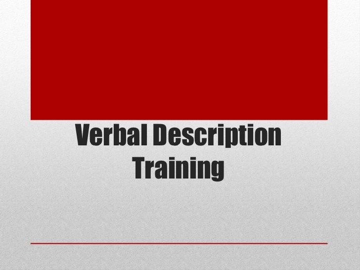 Verbal Description Training
