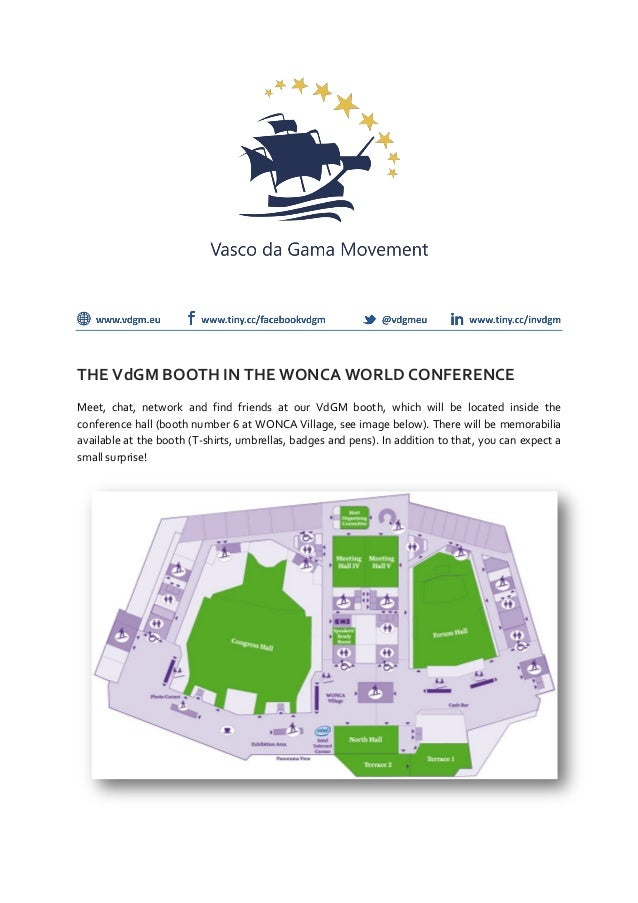 THE VdGM BOOTH IN THE WONCA WORLD CONFERENCEMeet, chat, network and find friends at our VdGM booth, which will be located ...