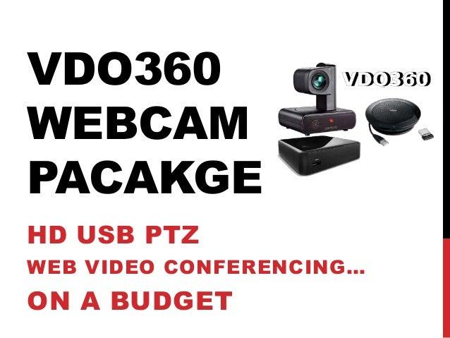 Vdo360 Webcam Video Conferencing Package