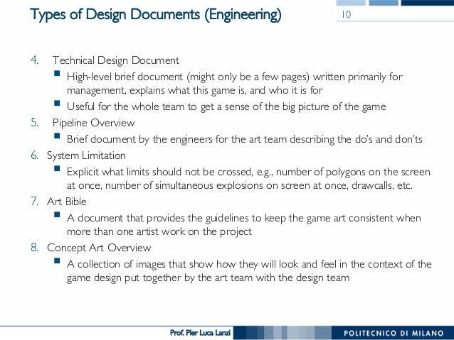 Game Design Script Example