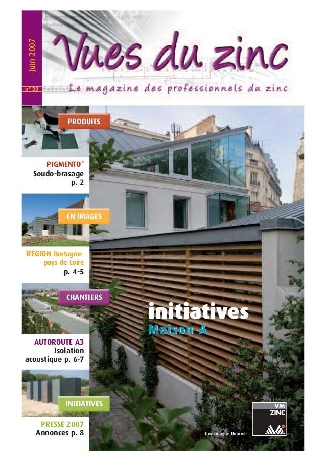 initiatives  Maiison A  Une marque Umicore  Juin 2007  PRODUITS  PIGMENTO®  n° 30  Soudo-brasage  p. 2  EN IMAGES  RÉGION ...