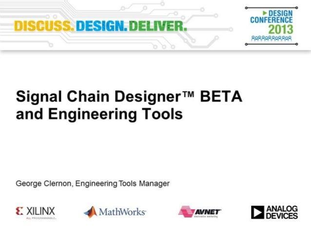 Signal Chain Designer: A New Way to Design Online - VE2013
