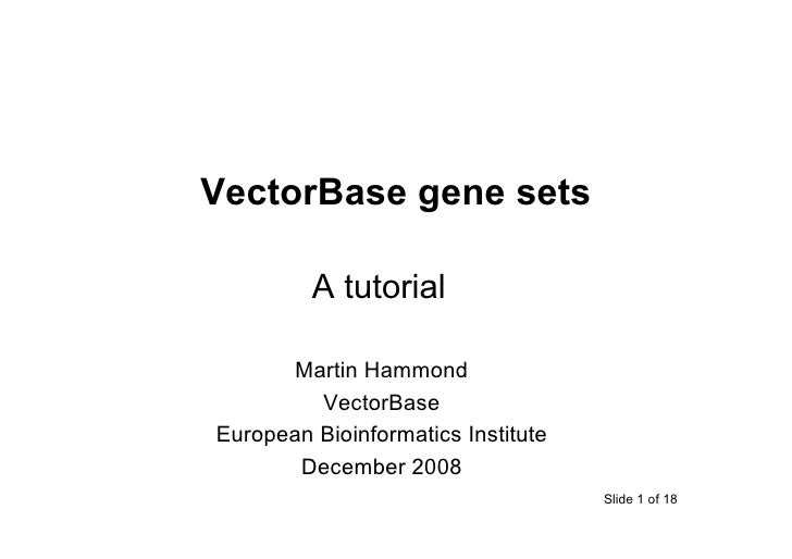 VectorBase gene sets