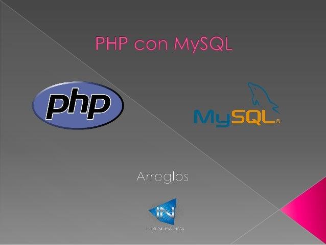 Vectores o arreglos con PHP