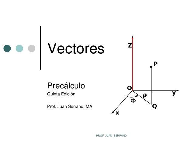VectoresPrecálculoQuinta EdiciónProf. Juan Serrano, MA                         PROF. JUAN_SERRANO