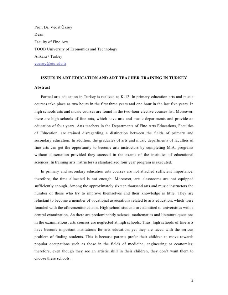 Prof. Dr. Vedat Özsoy Dean Faculty of Fine Arts TOOB University of Economics and Technology Ankara / Turkey vozsoy@etu.edu...
