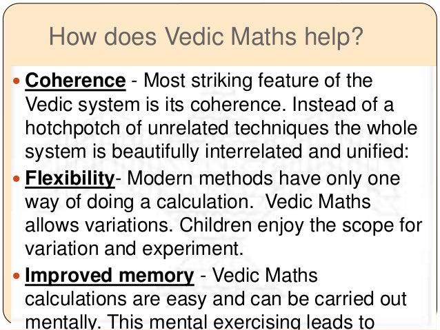 Vedic maths help ??