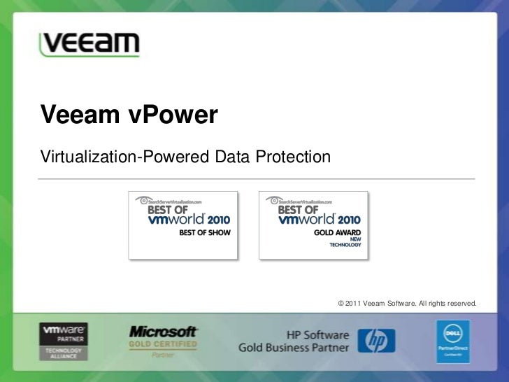 Veeam vPowerVirtualization-Powered Data Protection                                         © 2011 Veeam Software. All righ...