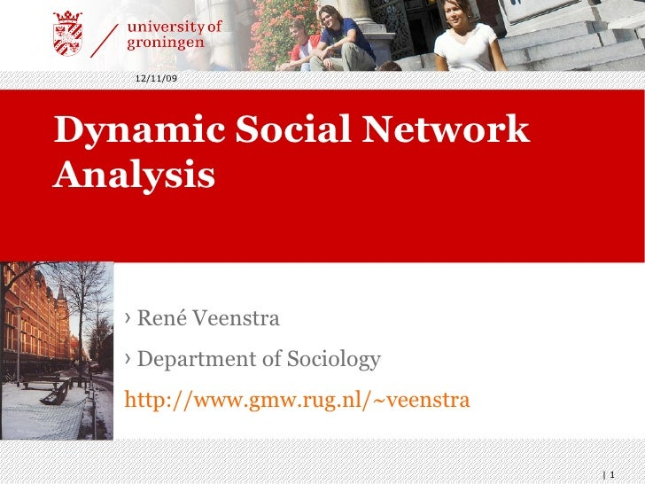 Dynamic Social Network Analysis <ul><li>René Veenstra </li></ul><ul><li>Department of Sociology  </li></ul><ul><li>http://...