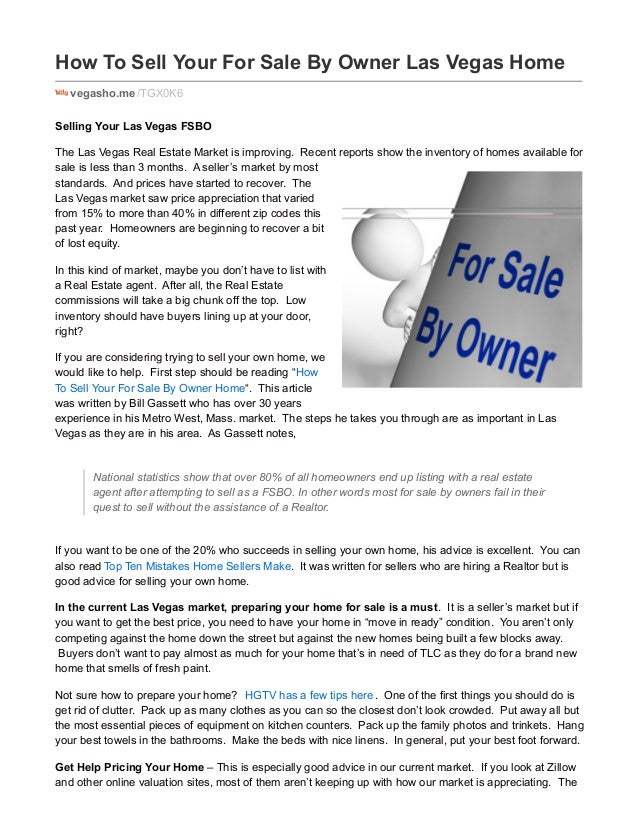 How To Sell Your For Sale By Owner Las Vegas Home vegasho.me /TGX0K6 Selling Your Las Vegas FSBO The Las Vegas Real Estate...