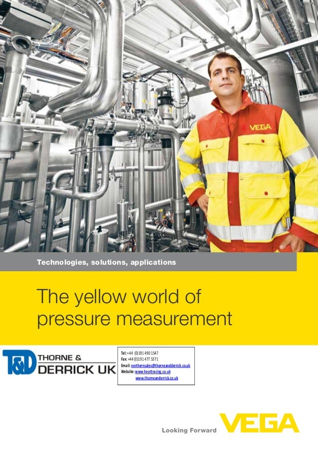 VEGA The Yellow World Of Pressure Measurement - Technology Brochure