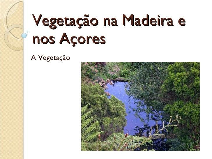 Vegetação na Madeira e nos Açores  A Vegetação