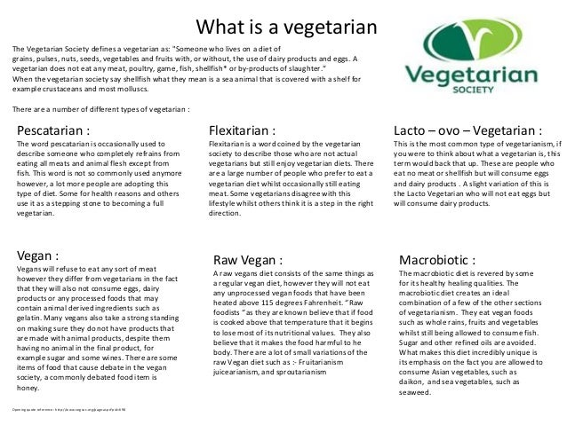 "What is a vegetarianThe Vegetarian Society defines a vegetarian as: ""Someone who lives on a diet ofgrains, pulses, nuts, s..."