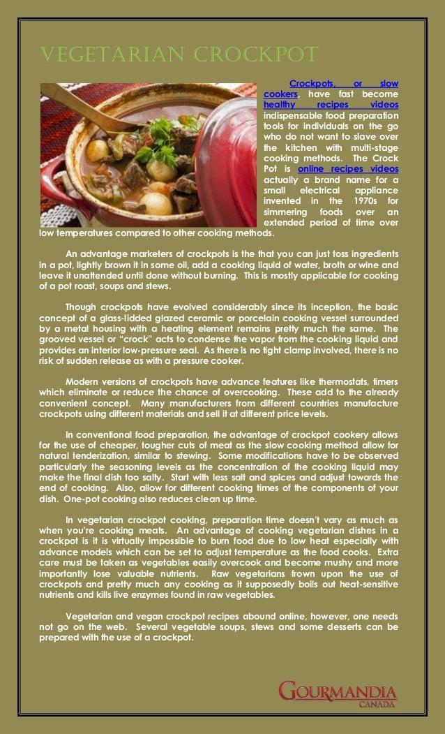Vegetarian Crockpot                                                       Crockpots,     or    slow                       ...