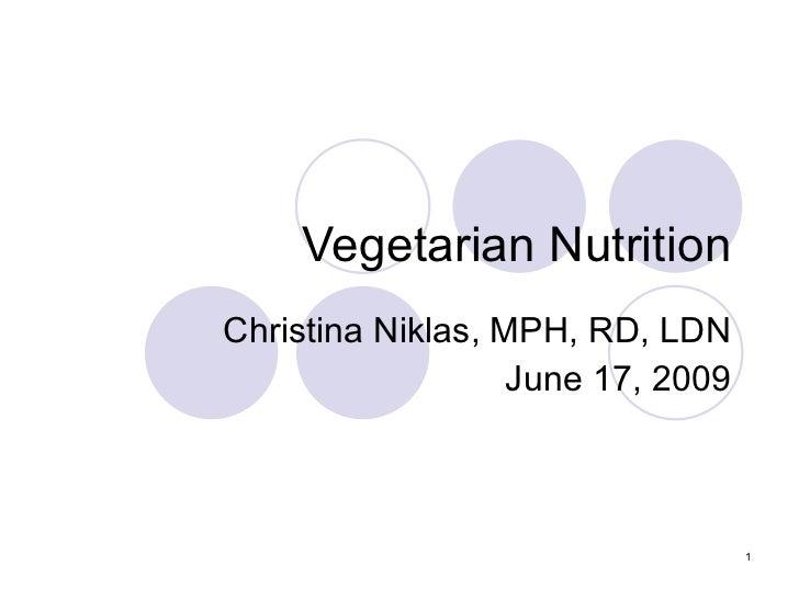 Vegetarian nutrition christina_niklas