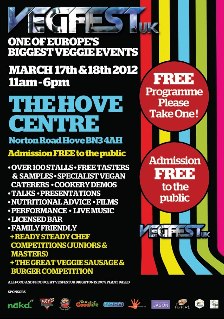 Vegfest UK Brighton 2012 Programme