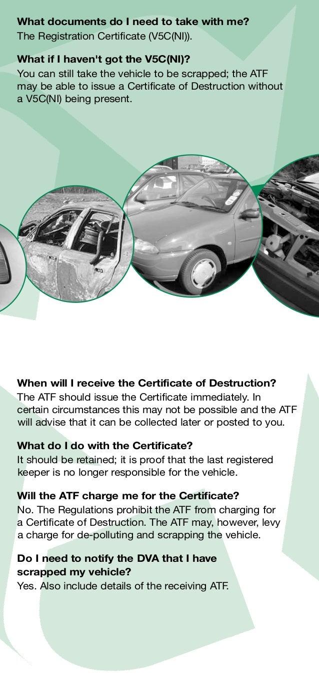 Registration Certificate V5c The Registration Certificate