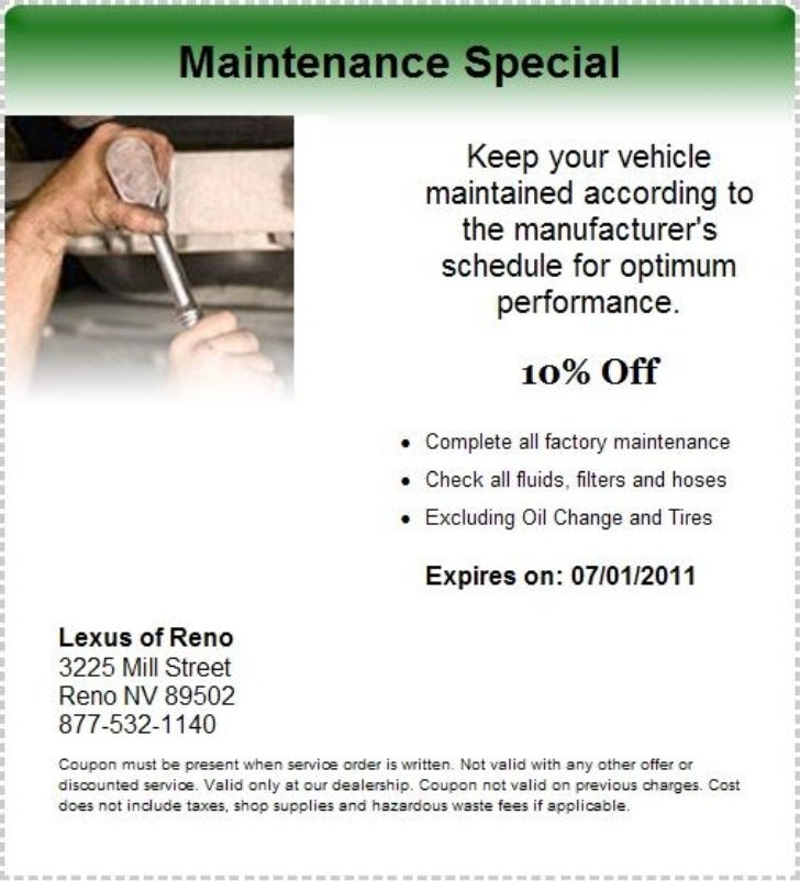 Vehicle Maintenance Special NV | Lexus Dealer In Nevada