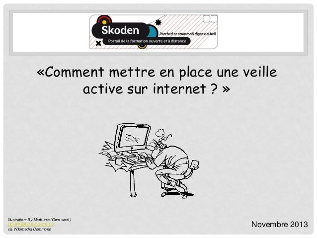 «Comment mettre en place une veille active sur internet ? »  Illustration: By Morburre (Own work) CC-BY-SA-3.0-2.5-2.0-1.0...