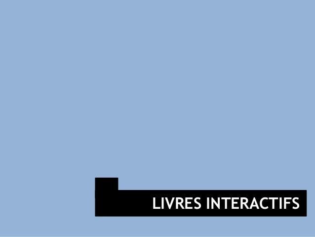 LIVRES INTERACTIFS