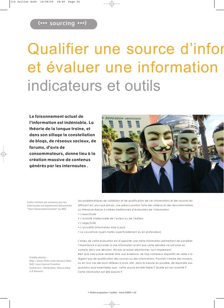 Veillemag F Martinet Qualifier Une Source D Information Septembre 2009