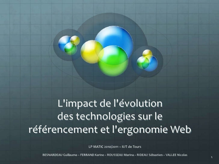 Impact des technologies sur le référencement et l'ergonomie Web