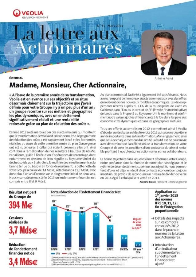 Lettre aux actionnaires n°31
