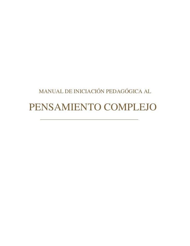 Velilla marco antonio   manual de iniciacion pedagogica al pensamiento complejo