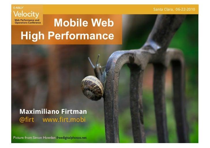 Mobile Web High Performance