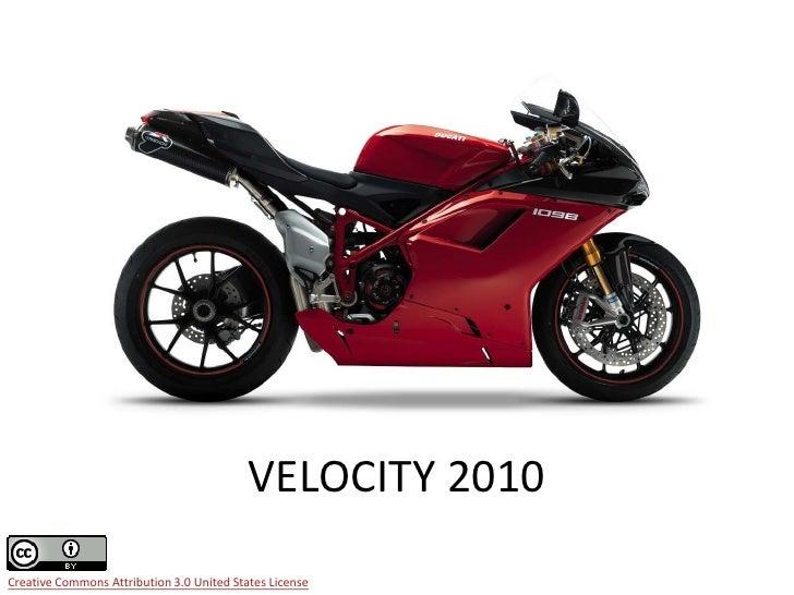 Velocity 2010 review