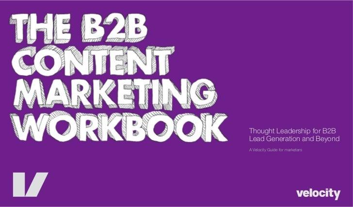 B2B Content Marketing Workbook