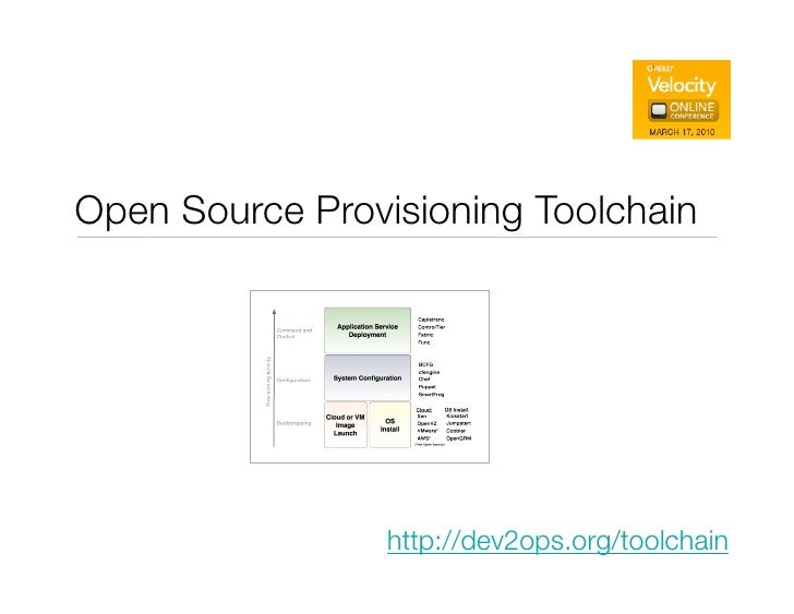 Provisioning Toolchain Introduction for Velocity Online Conference (March 2010)