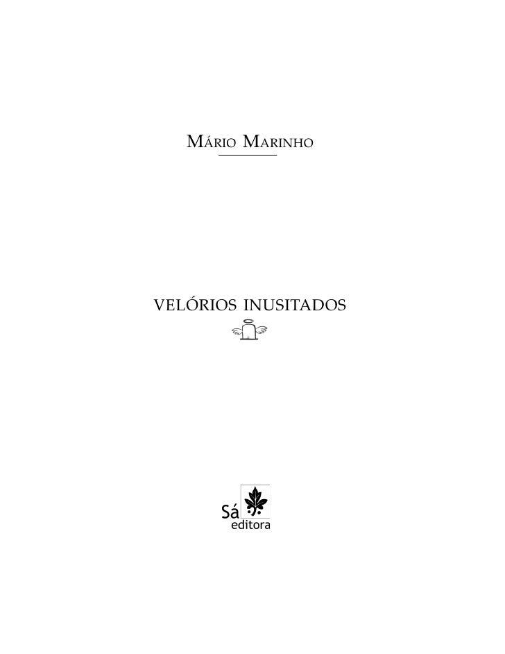 MÁRIO MARINHO     VELÓRIOS INUSITADOS